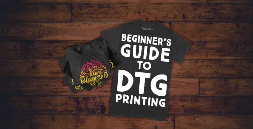 The beginners guide to DTG printing and a pile of t-shirts.