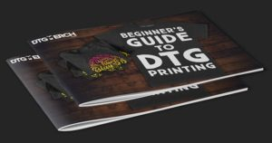 Two DTG Merch ebook stacked.