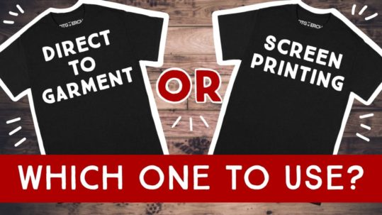Screen Printing vs Direct to Garment